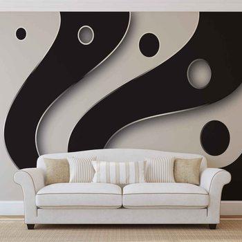 Abstrakcyjny czarno-biały wzór Fototapeta