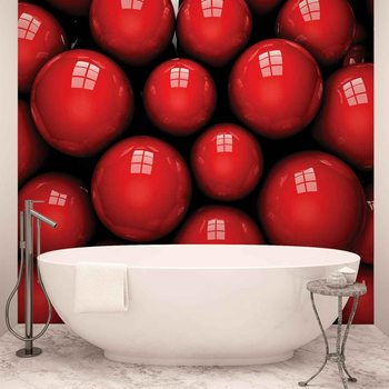 Abstrakcyjny obraz czerwone kule Fototapeta
