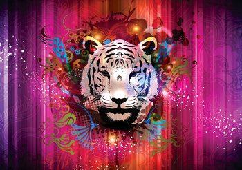 Abstrakcyjny obraz głowa tygrysa Fototapeta