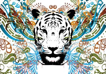 Fototapeta  Abstraktné umenie tiger