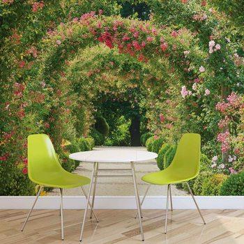 Fototapeta Alej, záhrada, záhon ruží