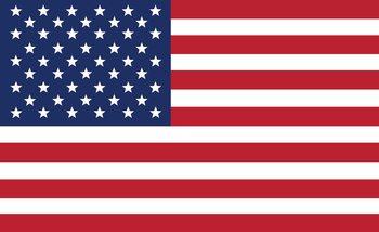 Amerykańska flaga Fototapeta