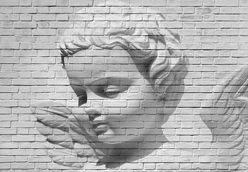 Angel Brick Wall Fototapeta