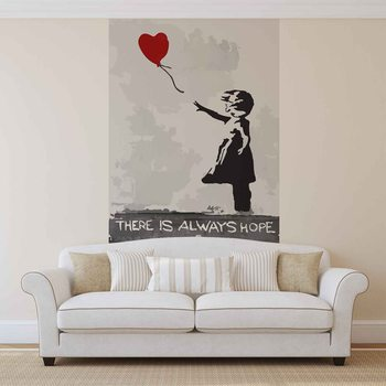 Banksy Art Street Balloon Heart Graffiti Fototapeta