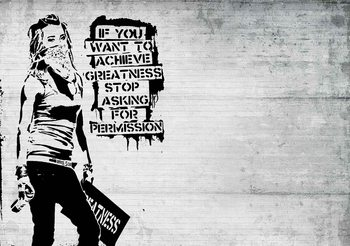 Fototapeta  Bansky Graffiti