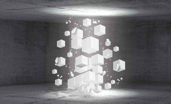 Fototapeta Bílé kostky 152.5x104 cm - 130g/m2 Vlies Non-Woven