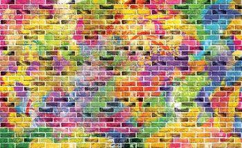 Cegły Wielokolorowe Fototapeta