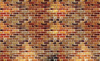 Fototapeta Cihlová stěna - Imitace 152.5x104 cm - 130g/m2 Vlies Non-Woven