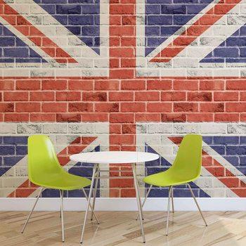 Fototapeta Cihlová stěna - Union Jack