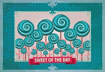 Fototapeta Cupcakes Turquoise Retro