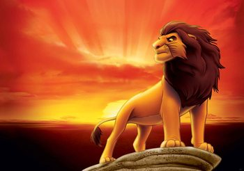 Disney Król Lew - wschód słońca Fototapeta