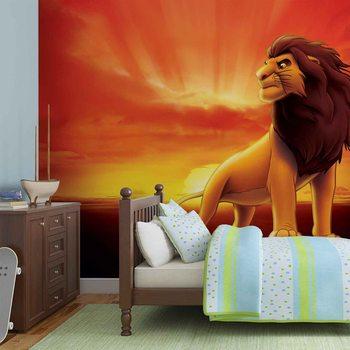 Fototapeta Disney . Leví kráľ, východ slnka