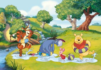 Fototapeta Disney Winnie Pooh Tiger Eeyore Prasiatko