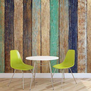 Drewniany płot Fototapeta