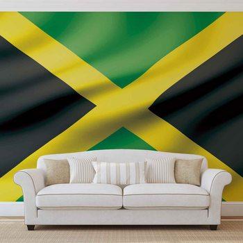 Flaga Jamajki Fototapeta