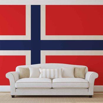 Flaga Norwegii Fototapeta