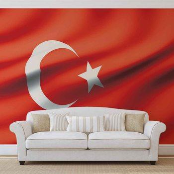 Flaga Turcji Fototapeta