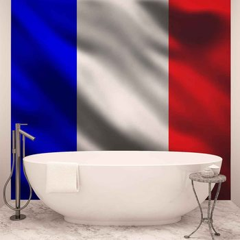 Francuska flaga Fototapeta