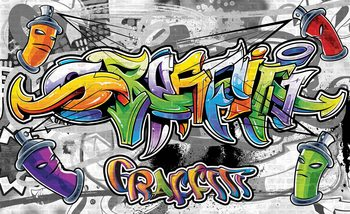 Fototapeta Graffiti Street Art 208x146 cm - 130g/m2 Vlies Non-Woven