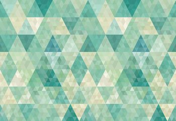 Fototapeta Green Modern Geometric Pattern