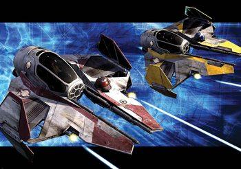 Gwiezdne wojny Obi Anakin Jedi Starfighters Fototapeta
