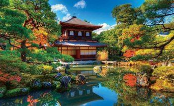 Fototapeta Japonská záhrada, kostol