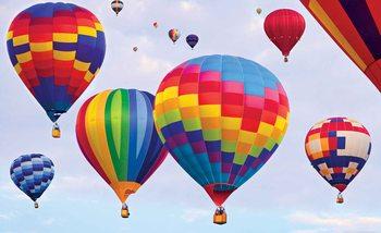 Kolorowe balony w locie Fototapeta