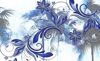 Kwiaty sztuka abstrakcyjna Fototapeta