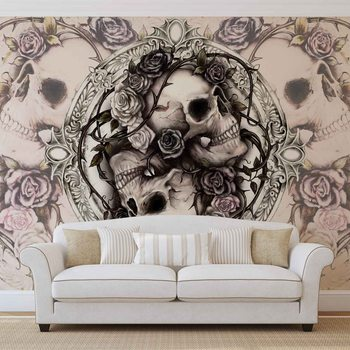 Fototapeta Lebka Alchemy Růže