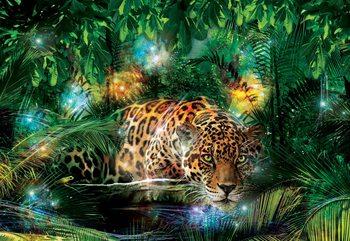 Leopard w dżungli Fototapeta