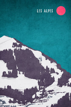 Les Alpes Fototapeta