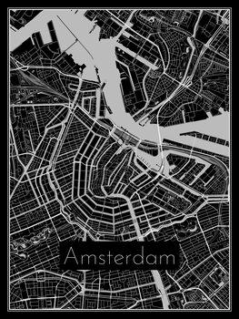Fototapeta Map of Amsterdam