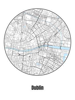 Fototapeta Map of Dublin