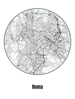 Fototapeta Map of Roma