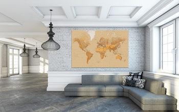 Fototapeta Mapa světa - starý styl