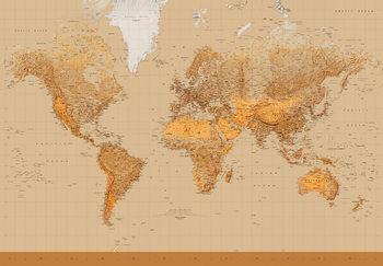 Mapa świata antyczna Fototapeta