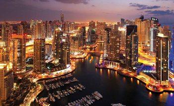 Fototapeta Mesto Dubaj - nočný prístav