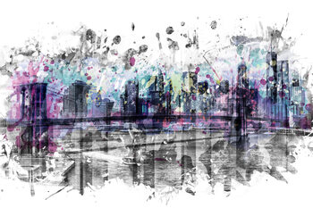 Fototapeta Modern Art NEW YORK CITY Skyline Splashes