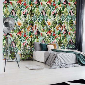 Fototapeta Modern Tropical Pattern