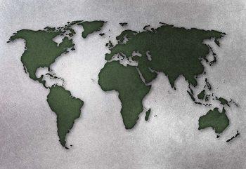 Fototapeta Modern World Map Silver
