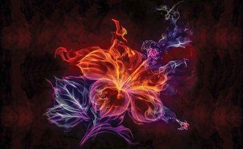 Neonowy kwiat Fototapeta