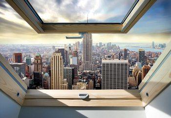 Fototapeta  New York City Skyline 3D Skylight Window View