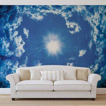 Niebo chmury i słońce Fototapeta