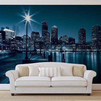 Nocny widok na Boston Fototapeta