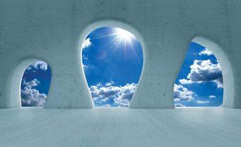 Nowoczesna architektura - widok na niebo Fototapeta