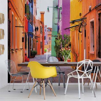 Fototapeta Old Colourful Street