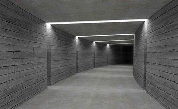 Oświetlony korytarz Fototapeta