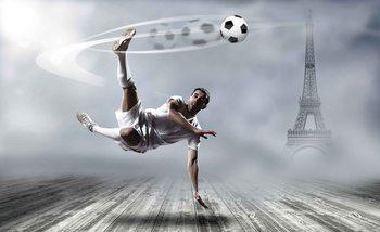 Piłkarz w Paryżu Fototapeta