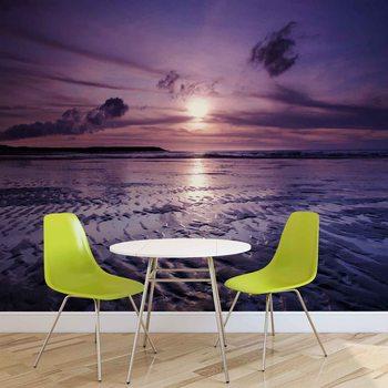 Plaża zachód słońca Fototapeta