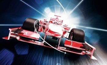 Samochód Formuła 1 Czerwony Fototapeta